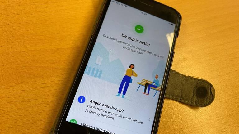 De CoronaMelder-app is op deze telefoon actief.