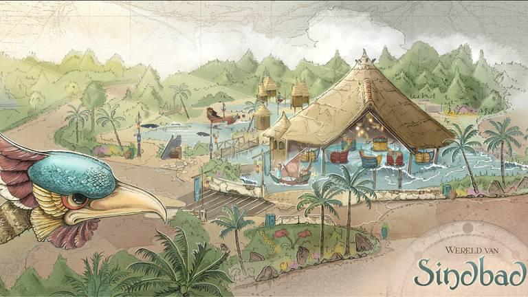 Op de plek van 'Monsieur Cannibale' komt een Sindbad de Zeeman-attractie (afbeelding: Efteling).