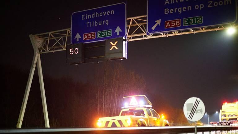 De A58 was tijdelijk afgesloten (foto: Tom van der Put/SQ Vision).