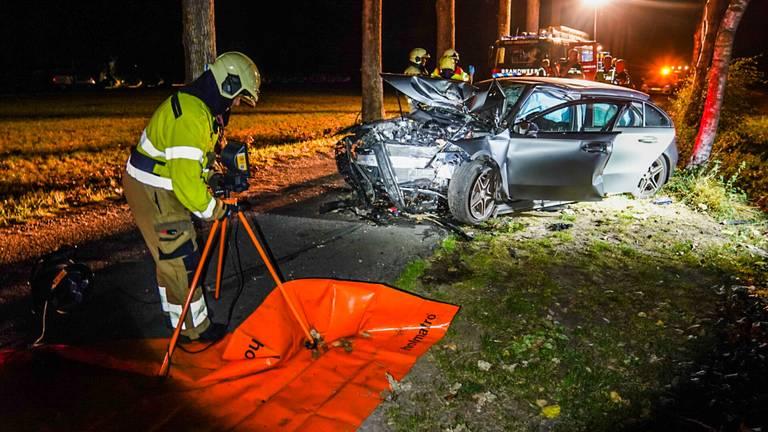 Het ongeluk in Sint-Oedenrode gebeurde rond kwart over elf (foto: Sem van Rijssel/SQ Vision).