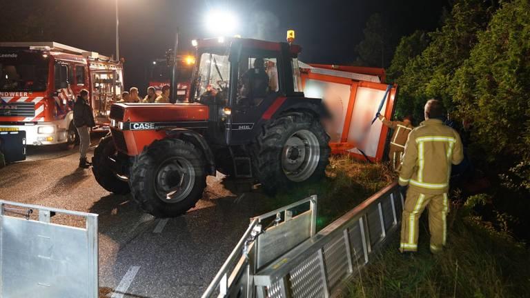Het ongeluk bij Leende gebeurde rond halfelf zondagavond (foto: SQ Vision).