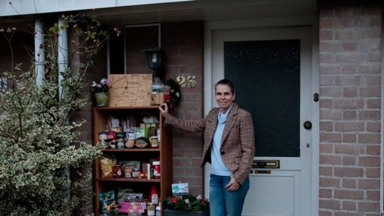 De foodsharekast van Olga. (Privéfoto)