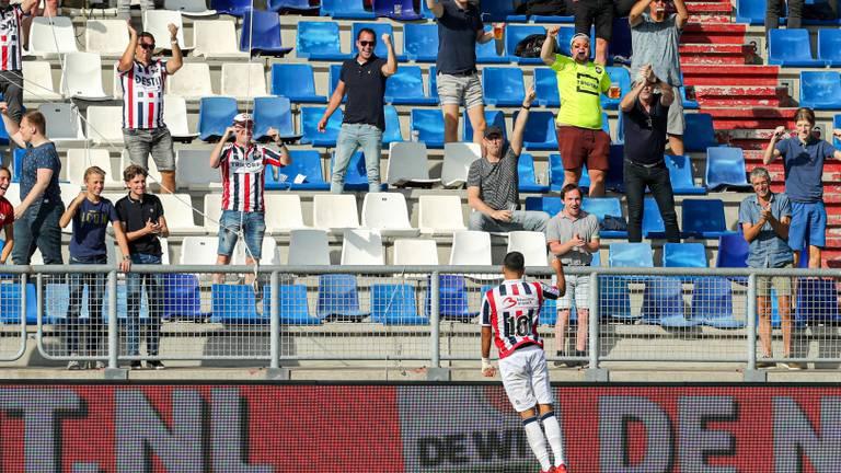 In september vorig jaar won Willem II is een beperkt gevuld stadion van Heracles (4-0)