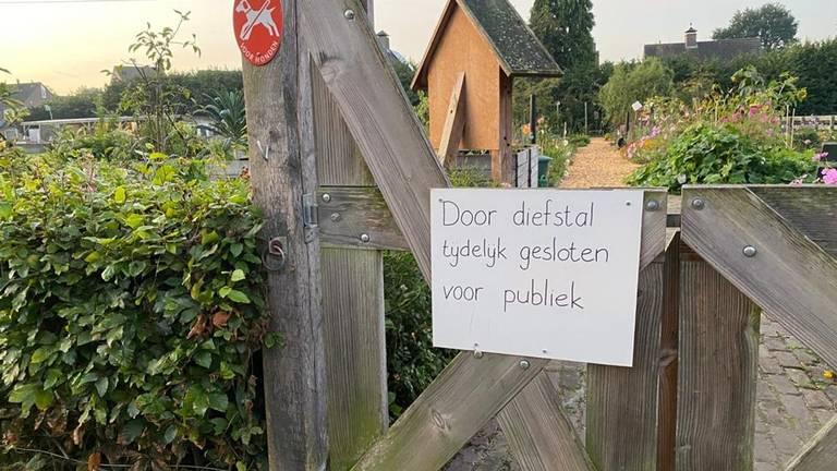 De buurttuin is tijdelijk dicht voor publiek (foto: Dtv Nieuws).