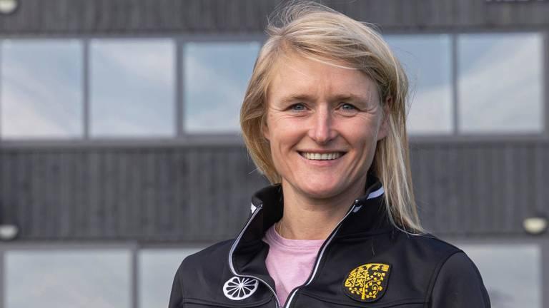 Marieke Dijkstra coach van de vrouwen van HC Den Bosch