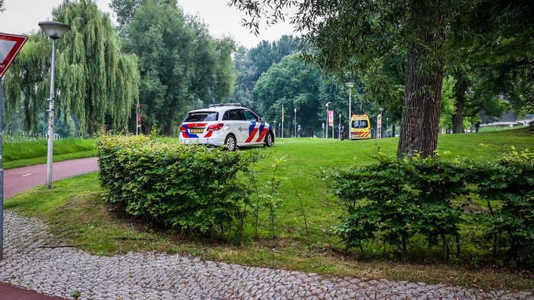 Vanwege de botsing in Eindhoven werden verschillende hulpdiensten opgeroepen (foto: Sem van Rijssel/SQ Vision).