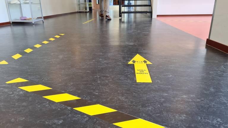 Maatregelen op een middelbare school in Oudenbosch (foto: Noël van Hooft)