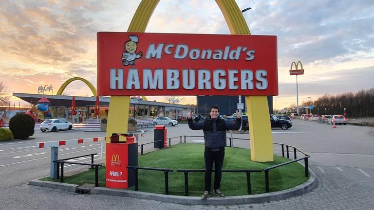 Martin bij zijn favoriete locatie (foto: Koen van den Boomen).