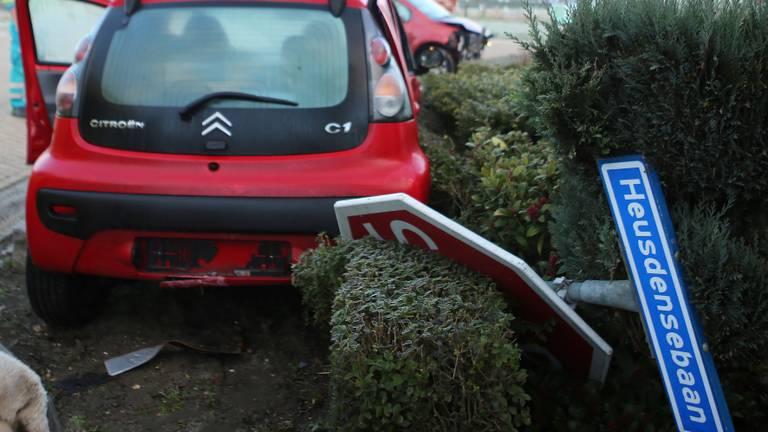 Een eerder ongeluk op de Heusdensebaan (foto: Bart Meesters/SQ Vision Mediaprodukties).