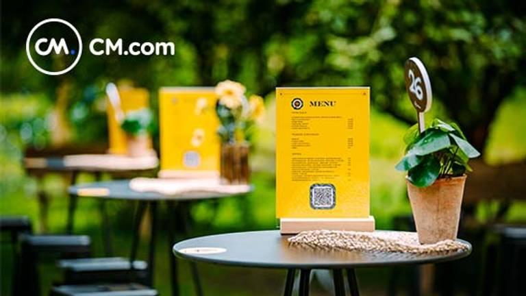 Consumpties bestellen met een QR-code. (foto: CM.com)