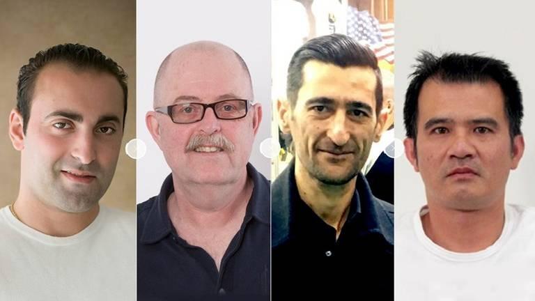 De vier moordslachtoffers (Foto: Politie)