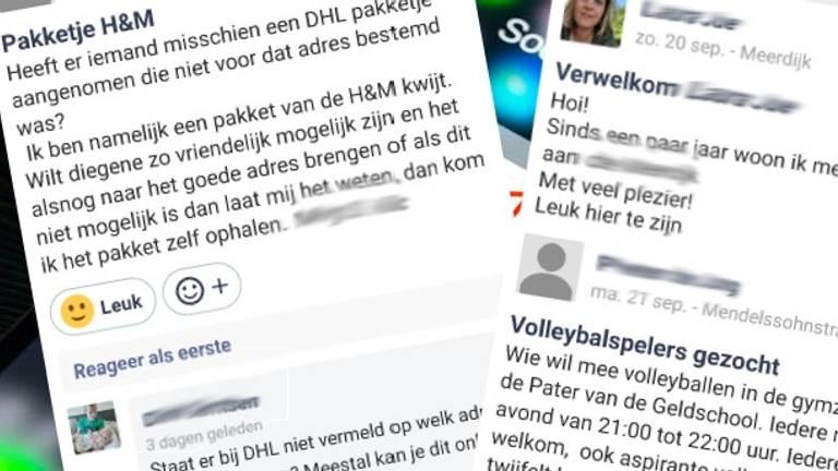 Enkele berichten in Hoplr.