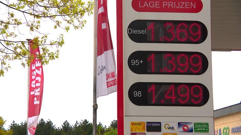 De prijzen bij de LUIKOIL Express in Lommel.