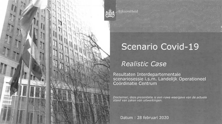 Het realistische coronascenario, op 28 februari opgesteld door het Landelijk Operationeel Coördinatie Centrum.