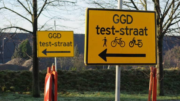 Een GGD-coronateststraat (foto: Joris van Duin)