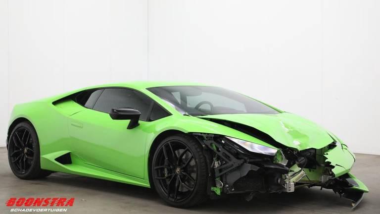 De Lamborghini die te koop staat. (Foto: Boonstra Schadevoertuigen)
