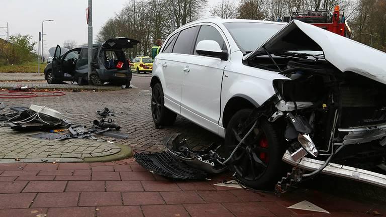 Het ongeluk waarbij drie vrouwen gewond raakten.