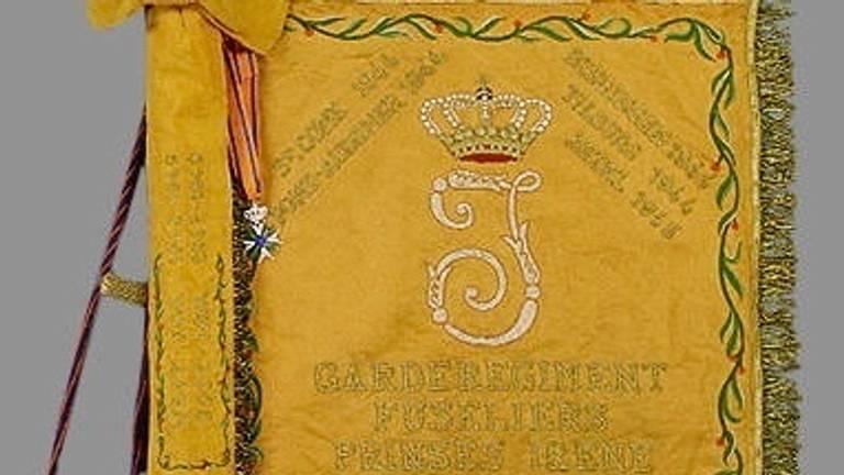 Het vaandel van de opvolger van de Prinses Irene Brigade (foto: defensie)