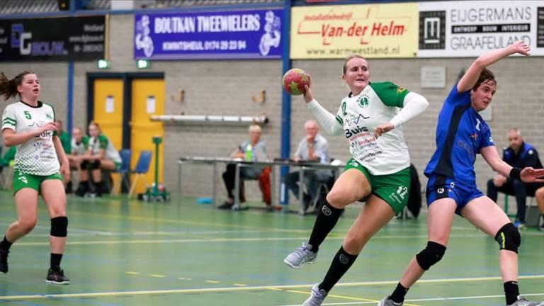 Céline Michielsen in actie voor haar club Quintus (foto: Paul Vis)