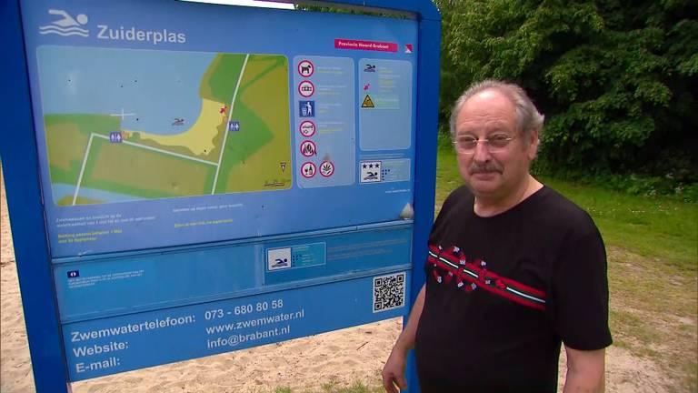 Charles Zaunbrecher is de eigenaar van de Beach Bar aan de Zuiderplas