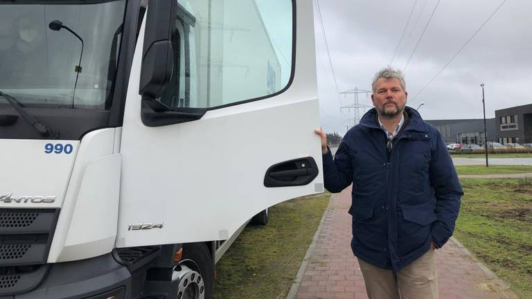 Michael Blok van het burgerplatform Containment Nu! (foto: René van Hoof).