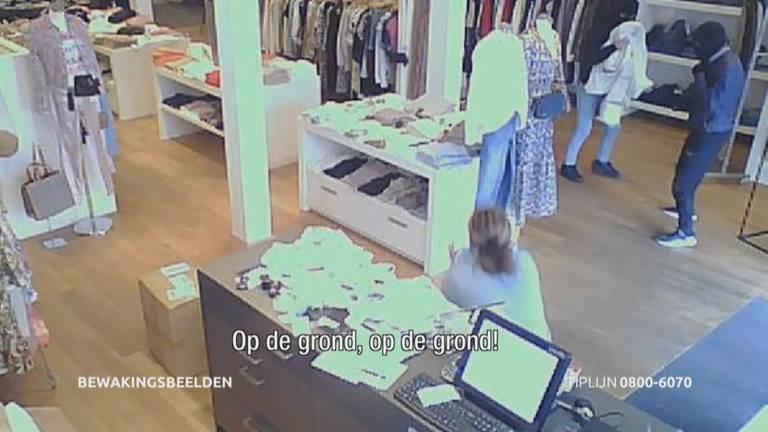 Beelden van de overval (beeld: Bureau Brabant).