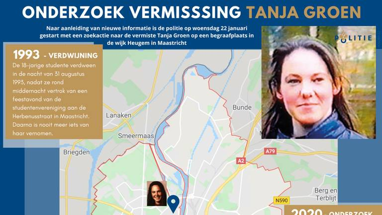 Infopagina Tanja Groen (foto: screenshot politie.nl)