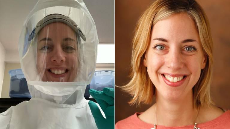 Andrea werkt in Amerika keihard aan een vaccin tegen corona. (Foto's: Andrea Pruijssers)