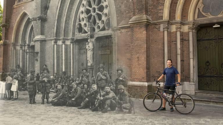 Perry Vermeulen fietste 1000 kilometer langs oorlogsplekken. (Foto: Perry Vermeulen)