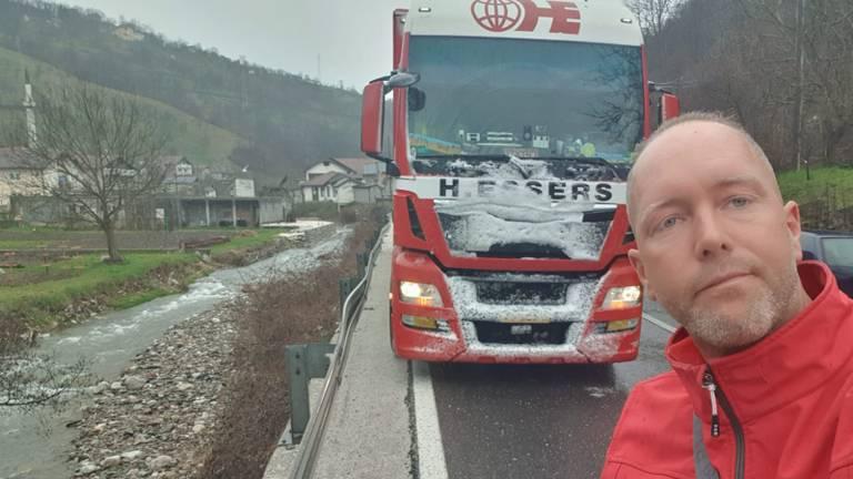Vrachtwagenchauffeur Martijn Lutkemeijer uit Helmond.